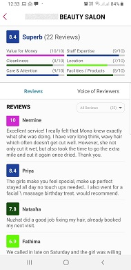 Beauty Salons Reviews